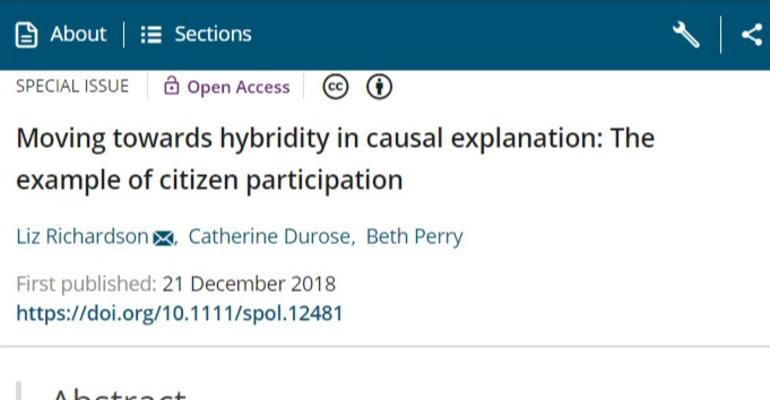 Moving towards hybridity--screenshot of the new SPA article