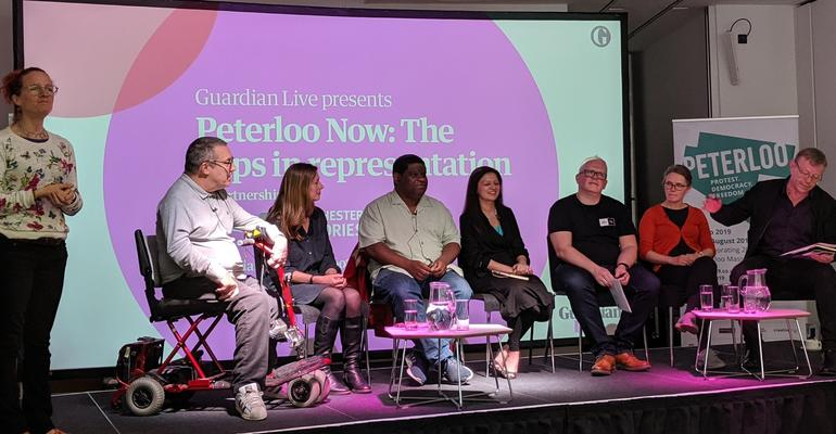 Peterloo Now: Panel debating 'The Gaps in Representation', Manchester Central Library, June 2019